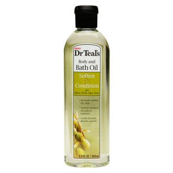 Dr. Teal's Body & Bath Oil, Soften & Condition with Olive Oil & Aloe Vera, 8.8 fl oz