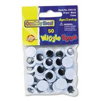 Creativity Street Round Black Wiggle Eyes, 15mm, Black, 50/Pack