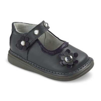 Infant Toddler Girls Wee Squeak Crystal Mary Jane Shoes - Grey 8
