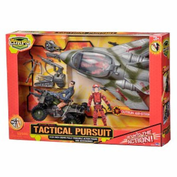 The Corps Tactical Pursuit Set with Plane Ages 3 +, 1 ea