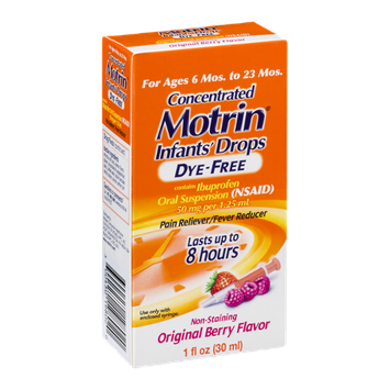 Infants' Motrin Concentrated Drops Non-Staining Original Berry Flavor