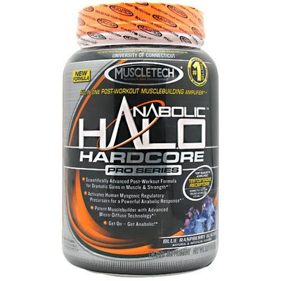MuscleTech Halo Hardcore Pro Series Blue Raspberry Glacier -- 2 lbs