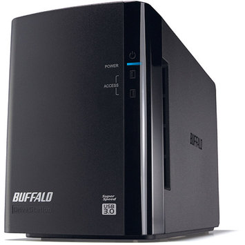 Buffalo Technology BUFFALO DriveStation Pro HD-WH6TU3/R1 - Hard drive array - 6 TB - 2 bays ( SATA-300 ) - 2 x HDD 3 TB - USB 3.0 (external