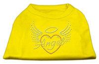 Mirage Pet Products 52-84 XXXLYW Angel Heart Rhinestone Dog Shirt Yellow XXXL - 20