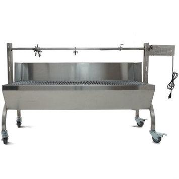 Titan Distributors Rotisserie Grill Roaster w/ Windscreen Stainless Steel 25W 125LBS capacity BBQ