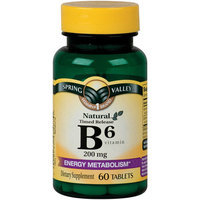 Spring Valley Natural Timed-Release Tablets Vitamin B6 Tablets