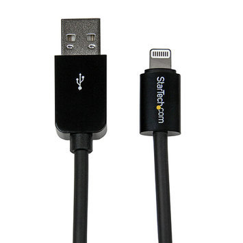 StarTech 3' Apple 8-pin Lightning Connector to USB Cable for Apple iPhone/iPod/iPad, Black