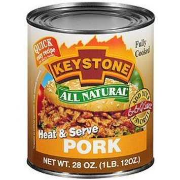 Survival Food Keystone All Natural Canned Pork