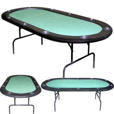 Trademark Poker 84 inch Texas Holdem Green Felt Poker Table