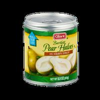 Giant Bartlett Pear Halves in Heavy Syrup