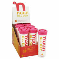 Nuun Hydration Tablets All Day Grapefruit Case of 8 16 Tablets