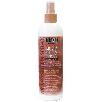 African Pride Braid Sheen Spray Extra Shine: 12 OZ