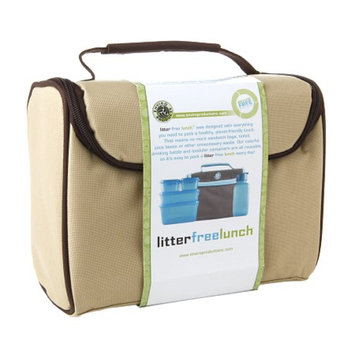 New Wave Enviro Litter Free Lunch Box w/containers, Brown, 1 ea