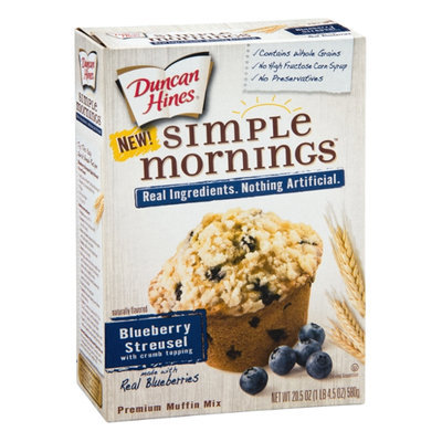 Duncan Hines Simple Mornings Premium Muffin Mix Blueberry Streusel