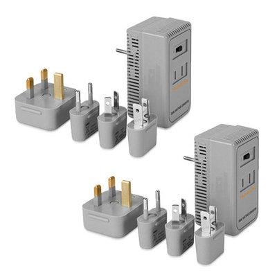 Travelon HighLow Voltage Converter Kit Gray (2-Pack) High-Low Voltage Converter Kit