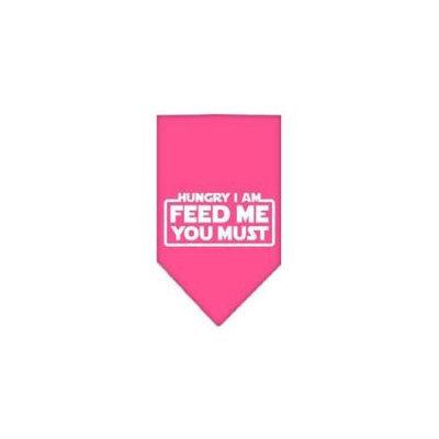 Ahi Hungry I Am Screen Print Bandana Bright Pink Large