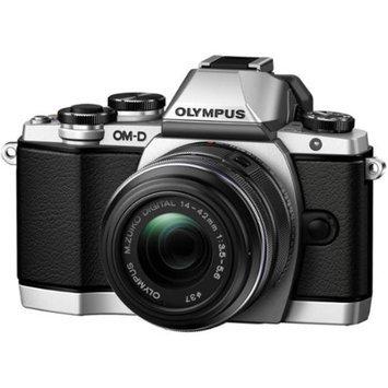 Olympus OM-D E-M10 Micro 4/3 Digital Camera & 14-42mm II R Lens (Silver/Black)
