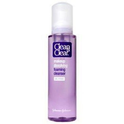 Clean & Clear Makeup Dissolving Foaming Cleanser, Oil-Free 6 fl oz (177 ml)