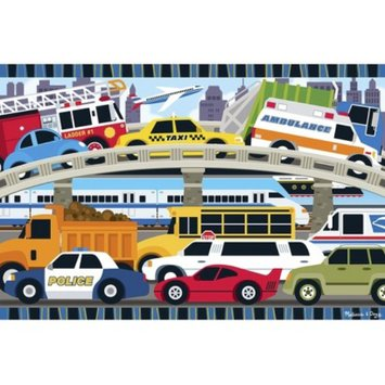 Melissa and Doug Traffic Jam Floor Puzzle 2'x3' Ages 3 yrs +