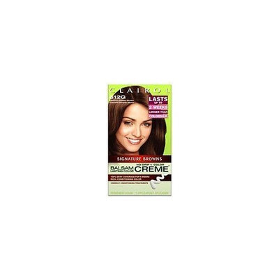 Clairol Balsam Lasting Color Browns Collection Creme Hair Color, Medium Golden Brown (612G)