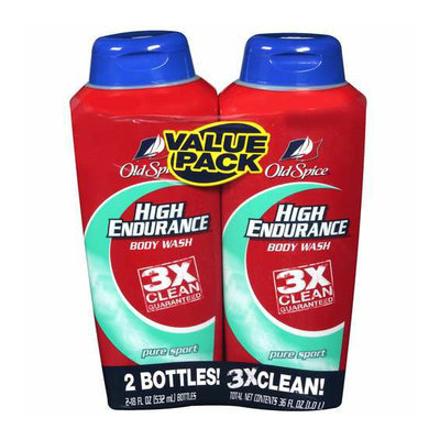 Old Spice High Endurance Body Wash Pure Sport Twin Pack (2 - 18 fl oz)