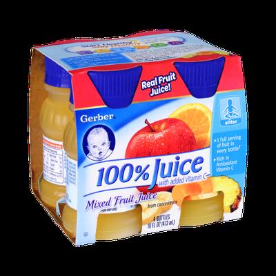Gerber 100% Mixed Fruit Juice - 4 CT