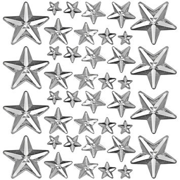 Leeco Industries Inc. Idea-Ology Mirrored Stars Clear Assorted Sizes .25