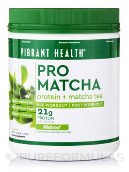 Pro Matcha Natural Protein Vibrant Health 14.85 oz Powder