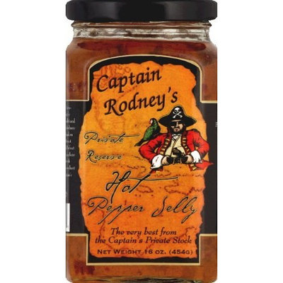 Captain Rodney's Pirates Reserve Hot Pepper Jelly - 16 Oz (Pack of 6)