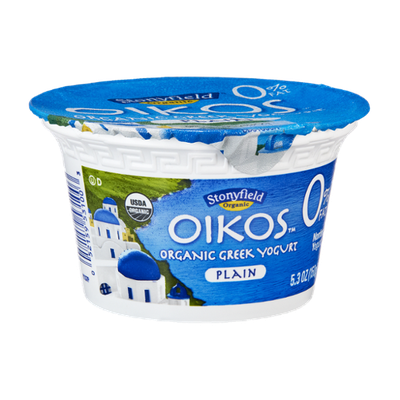 Stonyfield Organic Oikos 0% Fat Plain Greek Nonfat Yogurt