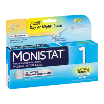 Monistat 1 Vaginal Antifungal 1-Day Maximum Strength Treatment Ovule