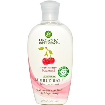 Organic Indulgence Bubble Bath,Og,Cherry and Almond 10 oz