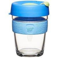 KeepCup 12-Ounce Brew Glass Reusable Coffee Cup, Medium, Base [Base, 12oz]