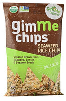 GimMe Chips Seaweed Rice Chips Wasabi 4 oz - Vegan