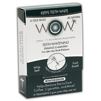 WOW Teeth Whitening Oral Rinse Powder Packets