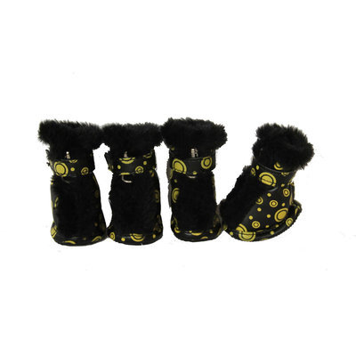 Pet Life Ultra Fur Comfort Year Round Protective Boots - Small