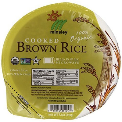 Gogo Rice Steamed Brown Rice Bowl, Organic, Microwaveable, 7.4-Ounce Bowls (Pack of 12)