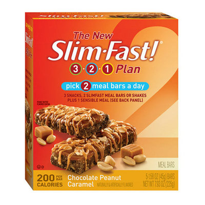 SlimFast 3.2.1 Plan Chocolate Peanut Caramel Meal Bars