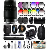 47th Street Photo Sigma 70-300mm F4-5.6 DG OS Lens for Canon (572101) + 12 Piece Filter Set + 10x Macro Diopter + Stabilizer Handle + Sling Backpack + 67 Monopod + Deluxe Cleaning Kit + Air Dust Blower + $50 Prints Gift Card + More