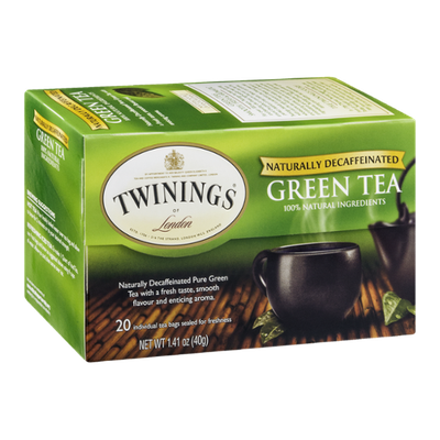 Twinings of London Green Tea Naturally Decaffeinated - 20 CT