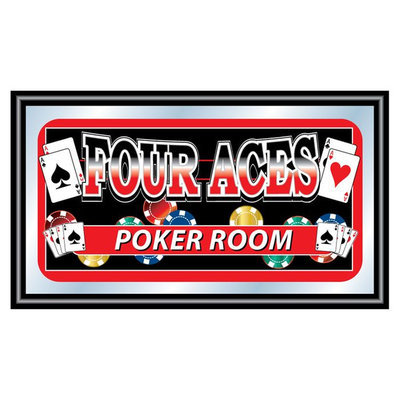 Trademark Commerce Trademark Global Four Aces Poker Room Mirror
