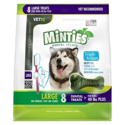 VetIQ Minties Dental Bone Pet Treat for Dogs - 12 Oz (L)