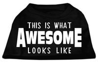 Ahi This is What Awesome Looks Like Dog Shirt Black XS (8)