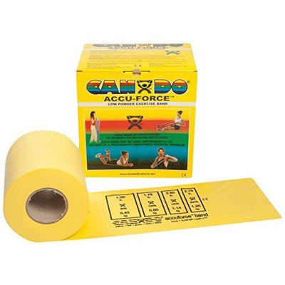 CanDo 10-5921 AccuForce Exercise Band, 50 yd Roll, Yellow-X-Light