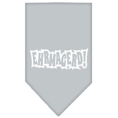 Ahi Ehrmagerd Screen Print Bandana Grey Large