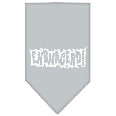 Ahi Ehrmagerd Screen Print Bandana Grey Large