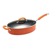 Meyer Rachael Ray Orange Porcelain Enamel Cookware 5-qt. Covered Oval Saut? Pan