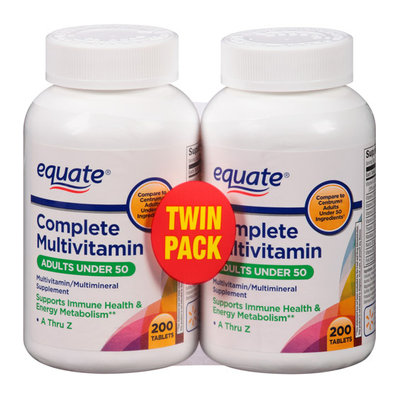 Equate Complete Adults Under 50 Multivitamin/Multimineral Supplement Tablets