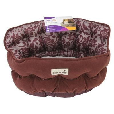 SmartyKat CrownComfort High Back Cat Bed - Floral Rum (17