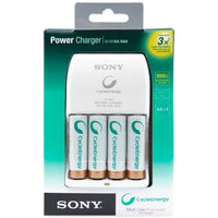 Sony Cycle Energy BCG34HLD4KN Power Charger with 4 Pre-Charged 2000 mAh AA Batteries (Discontinued by Manufacturer)